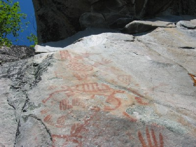 800 year old native rock paintings.